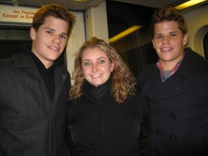 Charles and Max Carver with Julie Minevich